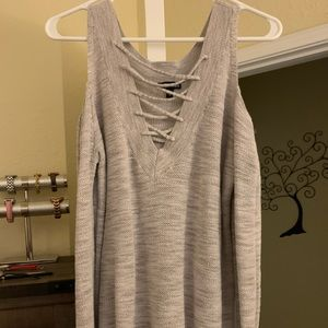 Woman's S/P  open shoulders sweater.